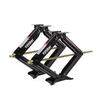 Level Your RV Trailer Or Camper Set of 2 Stabilize Can Support Up to 6,000 lbs Extends 17 Cynder 02046 Aluminum Stacker Stack Jacks